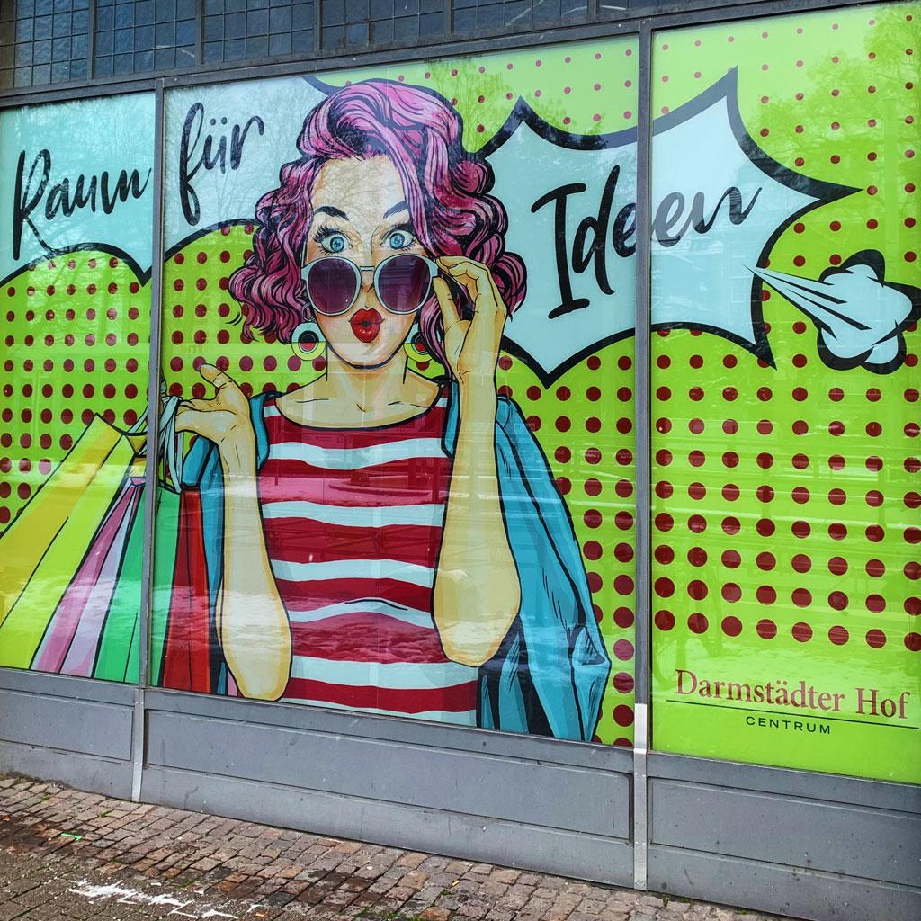 Leerstandsbeklebung Darmstädter Hof Centrum Heidelberg