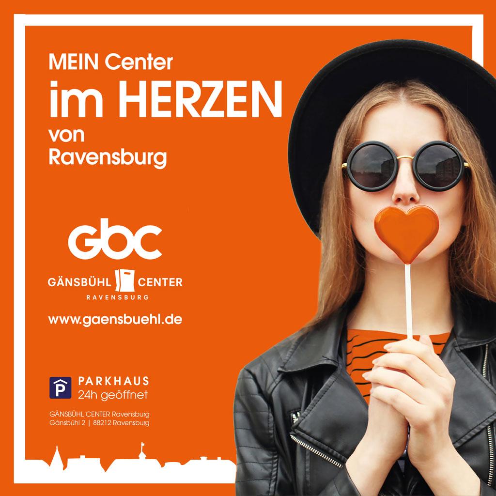 Key Visual Gänsbühl Center Ravensburg