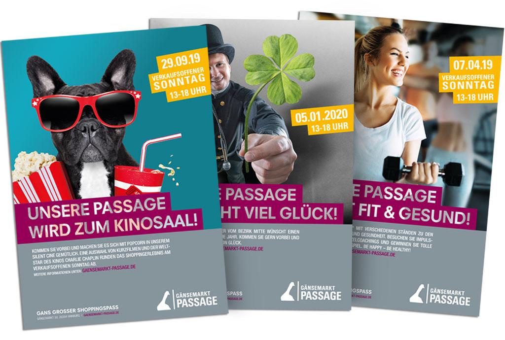 Plakatkampagne Gänsemarkt-Passage