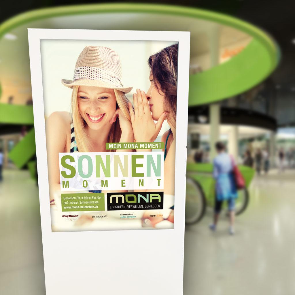 Digitale Infoscreens Mona EKZ München
