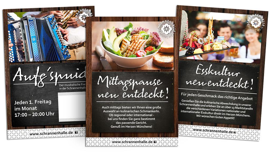 Redesign / Corporate Design Schrannenhalle München