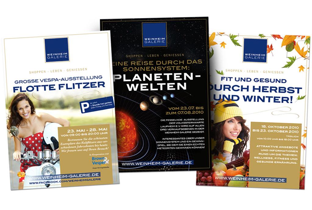 Plakatkampagne Weinheim Galerie